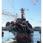 商船三井がLNG燃料タグの命名・進水式