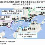 JR貨物山陽線は9月30日全面再開へ