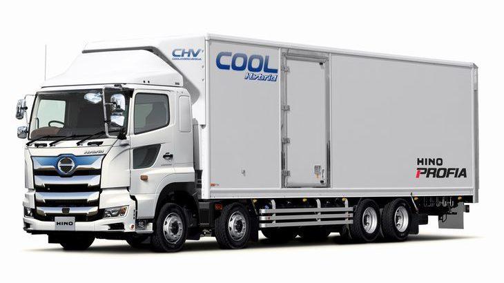 日野自動車が新ハイブリッドシステム活用の電動冷凍車