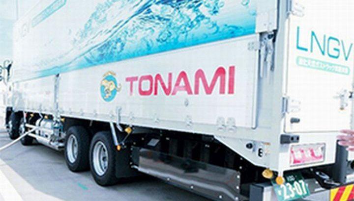 昭和シェルが大型LNGトラックに燃料供給