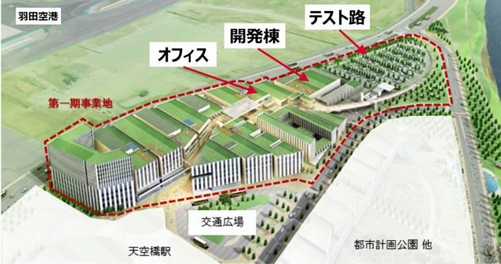 デンソーが羽田空港跡地に自動運転技術の開発拠点を開設