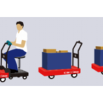 ZMPの台車型自律移動ロボット「キャリロ」、人間も搭乗可能に