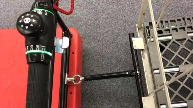 自律移動ロボット「キャリロ」でかご台車も牽引可能