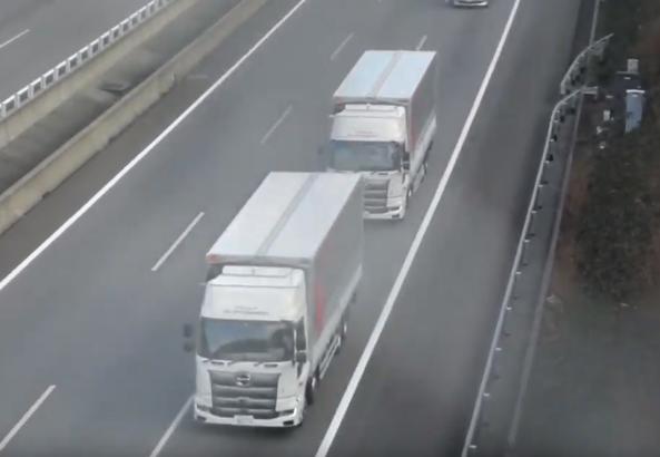 新東名道のトラック隊列走行実験、6月25日に開始