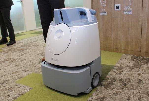 【動画】三菱地所、オフィスビルなど自動掃除するロボット公開