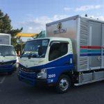 三菱ふそうが名鉄運輸に電気小型トラック5台を納入