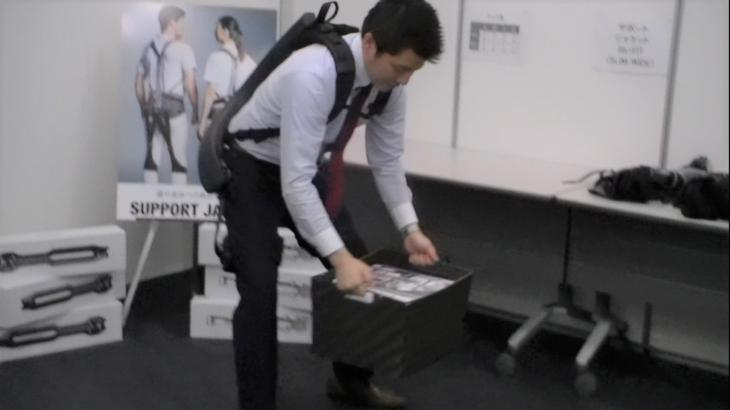 【動画】uprがアシストスーツ2種類の試着体験会開催