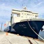 商船三井フェリーの新型RORO船「すおう」が就航