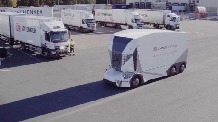 スウェーデンで完全無人電動トラックの走行実験開始