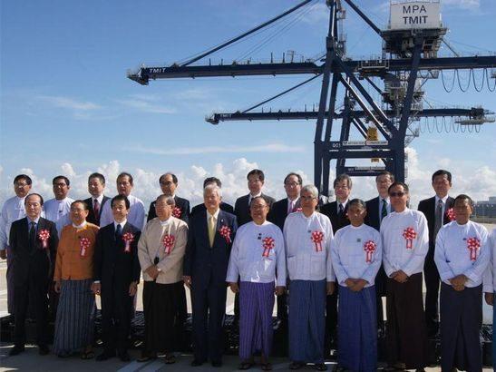 上組、ミャンマー・ティラワ港のターミナル運営開始