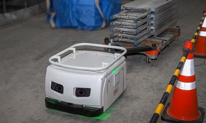 東急建設とTHK、段差や複雑な経路も走行可能な現場用搬送ロボットを共同開発へ