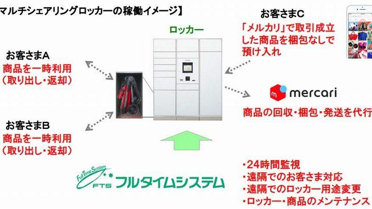 フリマ出品、専用ロッカーに入れれば梱包・発送を代行