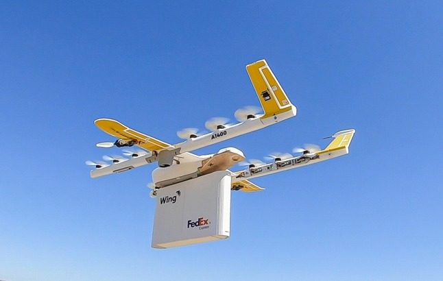 フェデックス、米アルファベットとのドローン医薬品宅配の機体公開