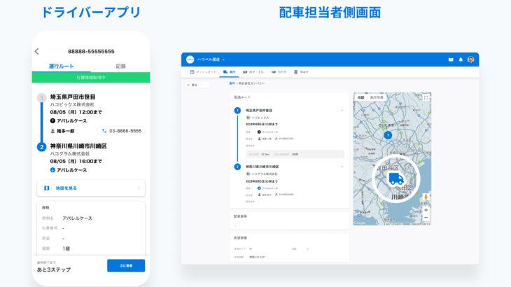「ハコベル」利用のドライバー向け専用アプリをリリース