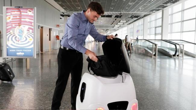 ドローンフューチャーアビエーション、ドイツ・フランクフルト空港で配送ロボの手荷物配送実験