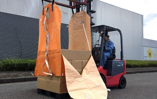 太陽工業など、パレットなしで移動・積み降ろし可能な輸送容器を12月発売