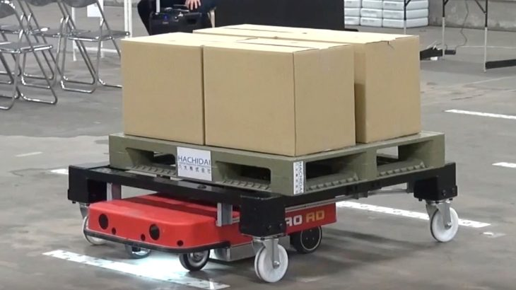 ZMP、物流支援ロボットに複数台最適制御機能を追加