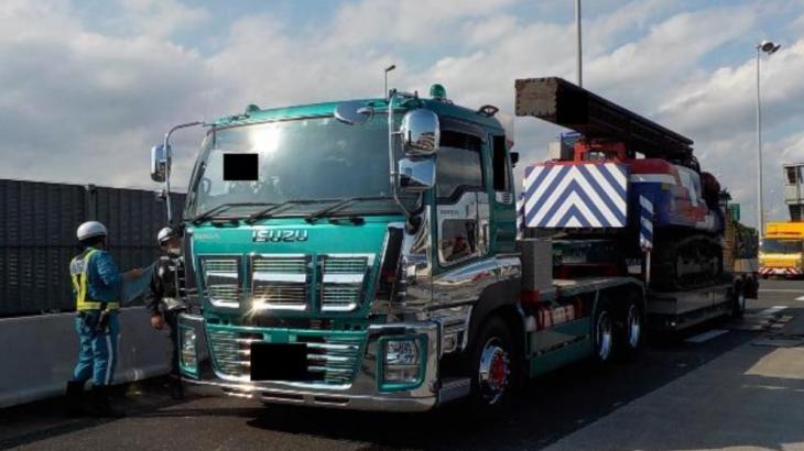 制限の2倍、50・5トンで走行の重量超過トレーラーを千葉県警に告発
