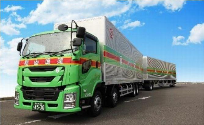 福山通運、ダブル連結トラックを新たに2台導入