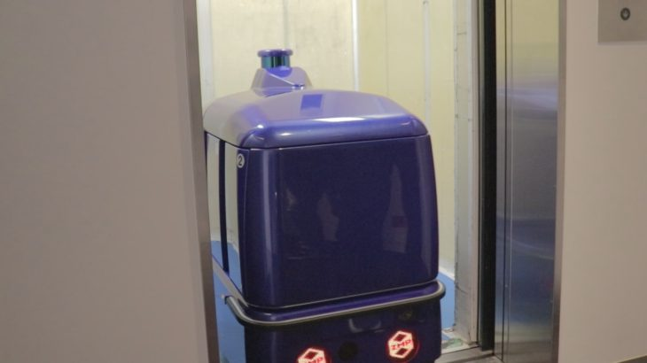 ZMP、宅配ロボットとエレベーター連動させ異なる階を移動する実証実験