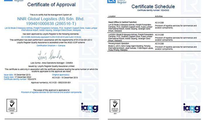 西鉄、マレーシア現法が航空・宇宙産業向け品質マネジメントシステム規格認証を取得