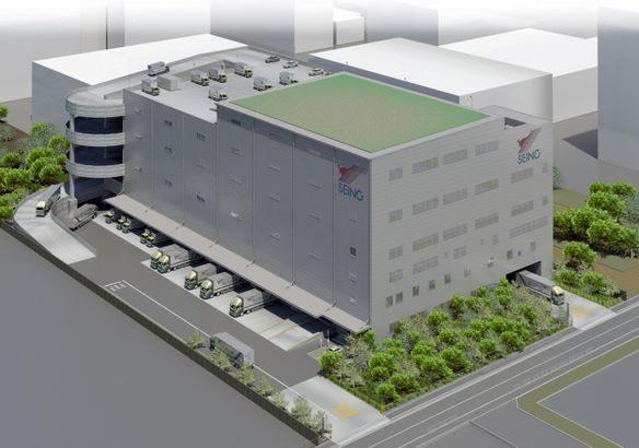 西濃運輸が東京・深川支店を建て替えへ、1・2万平方メートルの物流倉庫併設
