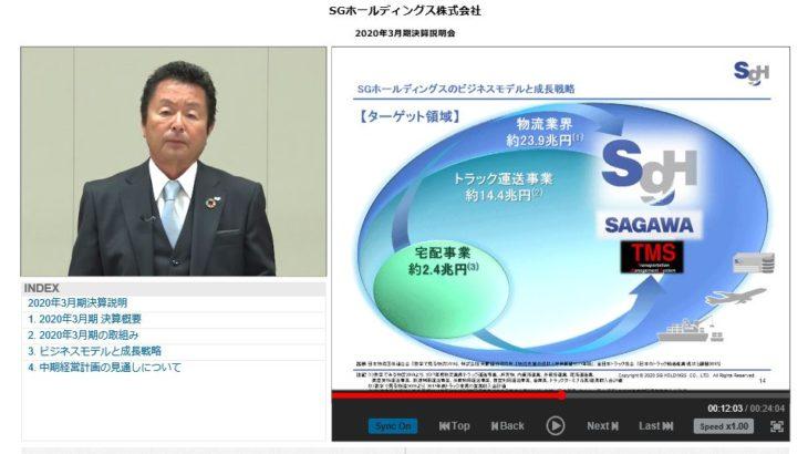 SGHD・荒木社長、「フィジカルインターネット」への対応準備急ぐ考えを表明