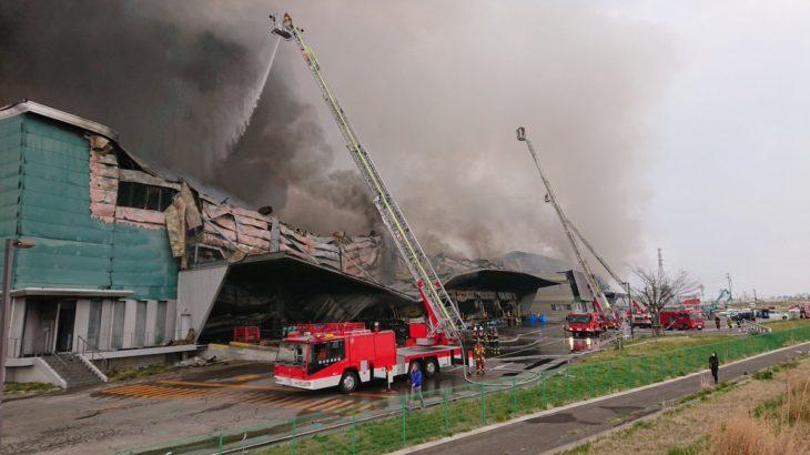 宮城・岩沼の物流施設火災、出火から6日余りでようやく鎮火