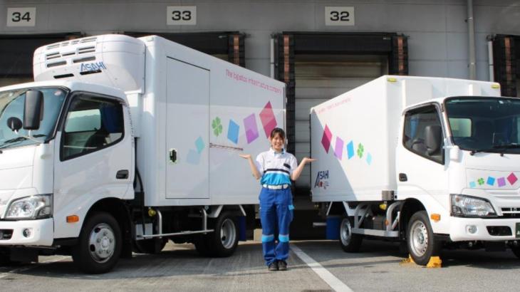 アサヒロジスティクス、女性専用トラック第2弾を千葉・松戸の事業所に導入