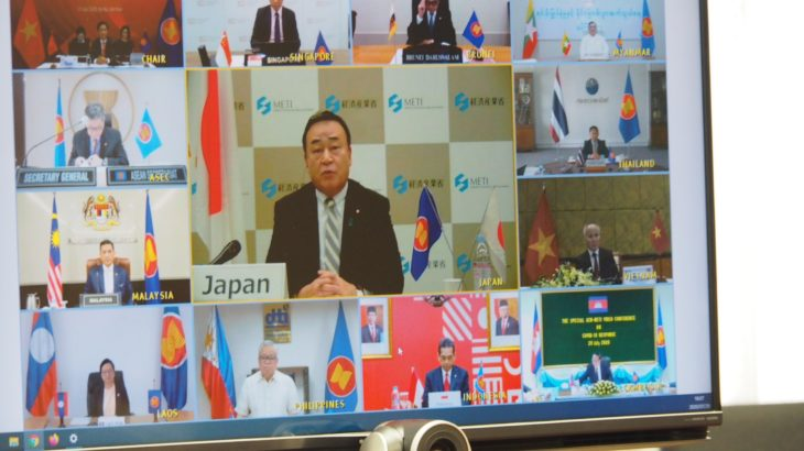 【新型ウイルス】日ASEAN、サプライチェーン強化やDX促進で合意