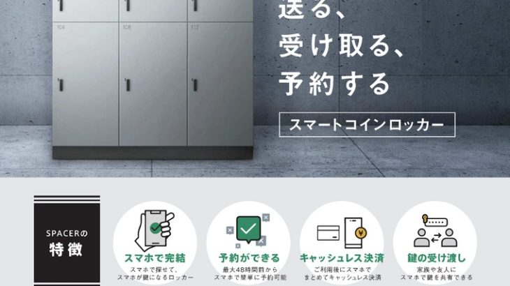 JA三井リース、スマートコインロッカー展開するSPACERに出資