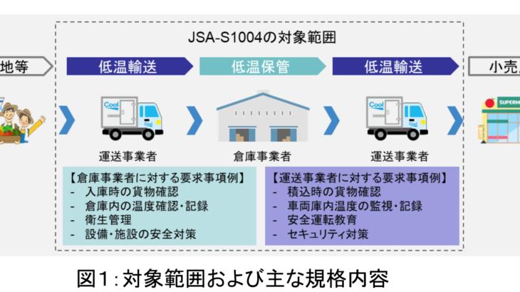 日本のBtoBコールドチェーン物流サービス規格が正式発行