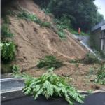東北道の福島飯坂IC~白石IC間でのり面の土砂崩落