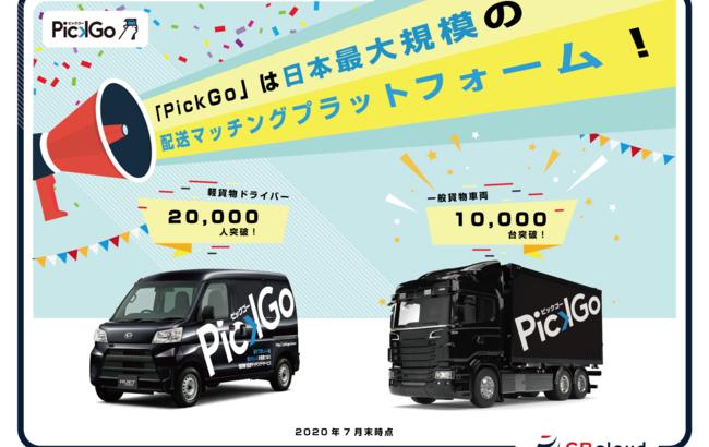 CBcloudの「PickGo」、登録軽貨物ドライバー2万人突破
