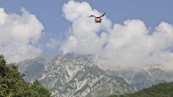 【動画】楽天が長野・白馬村で国内初、高低差1600メートルのドローン物資輸送に成功