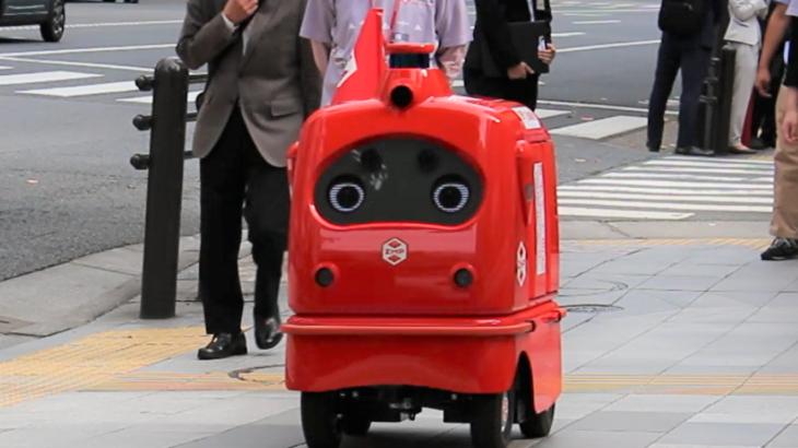 【動画】日本郵便、都内で配送ロボットの公道走行実験を初公開