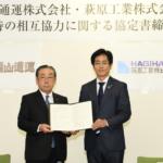 福山通運と萩原工業、災害時の相互協力協定締結