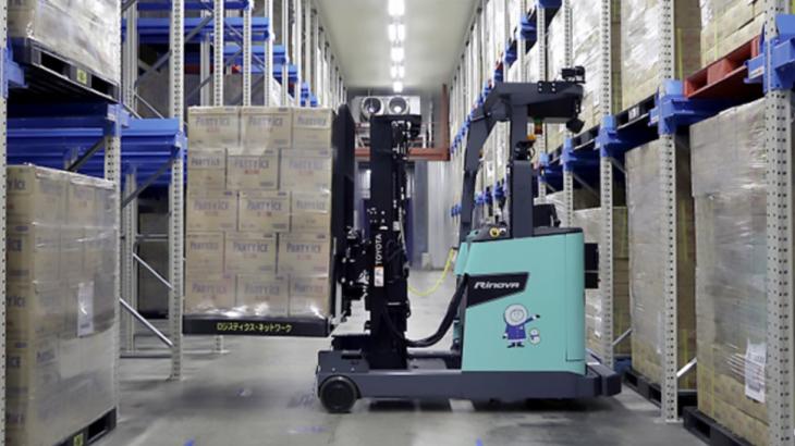 【動画】ニチレイロジと豊田自動織機、冷蔵・冷凍倉庫内で自動運転フォークリフト稼働の実証実験開始