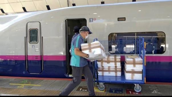 新潟・茨城の海産物、新幹線や特急列車で東京都心まで輸送