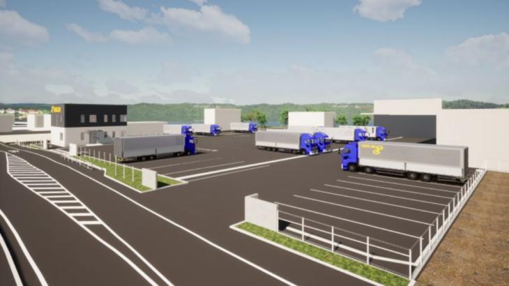 トランコムグループが中継・混載輸送対応強化へ静岡・袋井の物流拠点拡張、フルトレーラー対応