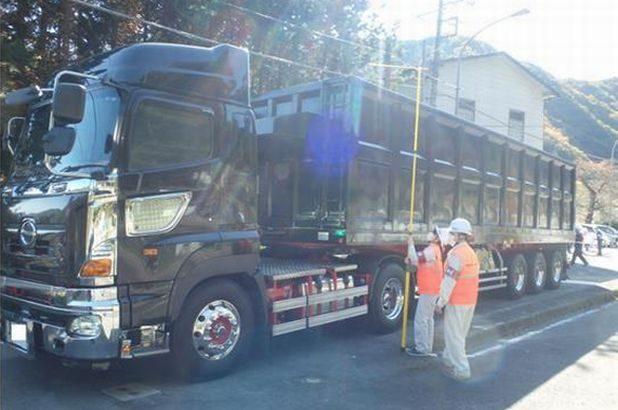 過積載車両の大規模取り締まり、違反車両39台に指導警告や措置命令実施