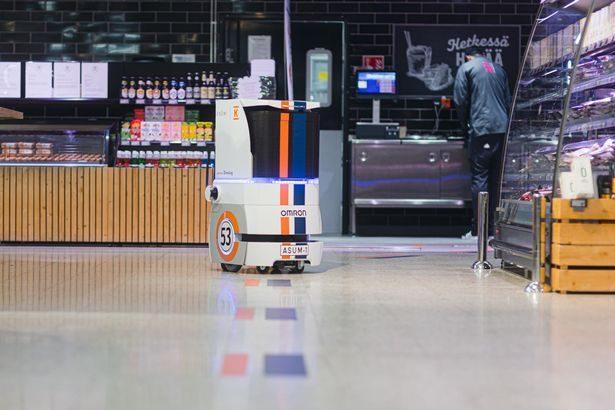 【動画】オムロンのモバイルロボット、フィンランドで食料品自動宅配のトライアルに投入