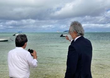 茂木外相がモーリシャスの首相、外相と会談、貨物船事故受け財政支援など表明