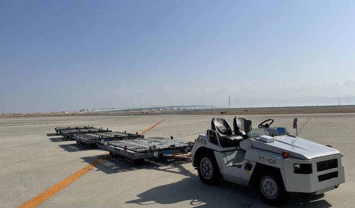 鴻池運輸、関空で航空機搭載のパレットドーリー位置情報把握の実証実験