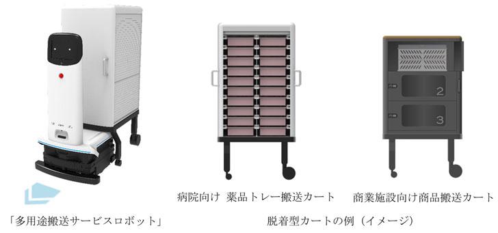 三菱電機が多用途搬送サービスロボットシステムを開発、21年度以降の製品化目指す