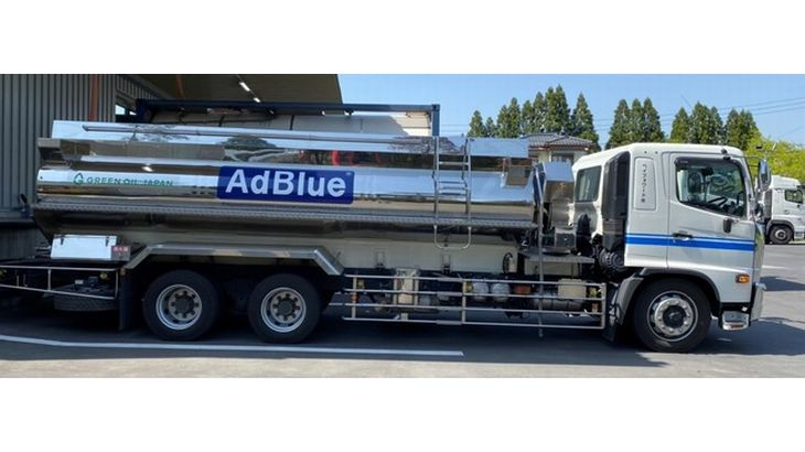 新日本化成の配送車両にユーグレナバイオディーゼル燃料を使用
