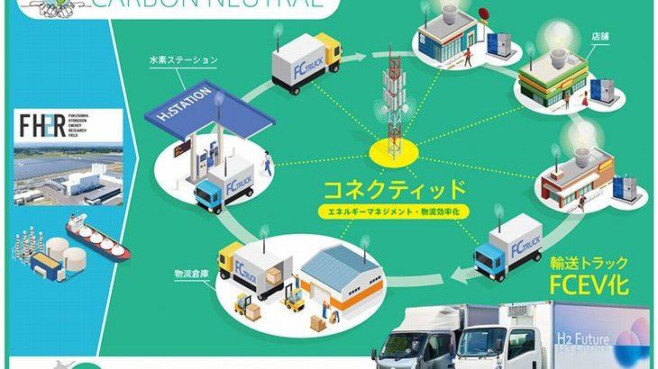 福島県とトヨタなど、水素活用した燃料電池トラックを配送に投入へ