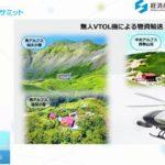長野・伊那市のドローン物流、大型の無人垂直離発着機使った山小屋への物資輸送も準備