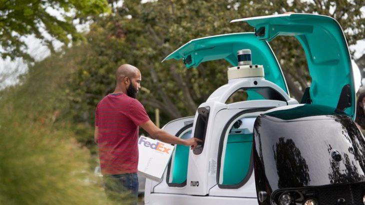 フェデックス、自動運転技術の米ニューロと連携し自動配送車を試験導入