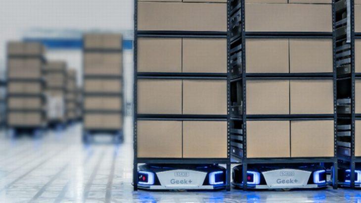 ギークプラスの物流ロボット50台、三菱倉庫のEC向けセンターで採用